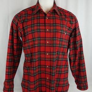 Pendleton Mens Sz Large Flannel Hunting Shirt